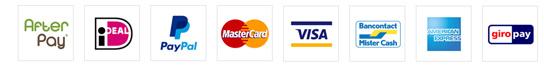 Betaalmogelijkheden: iDeal, PayPal, Creditcard, etc..