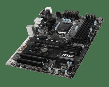 MSI Z170A PC Mate Top Corner 2