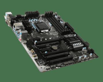 MSI Z170A PC Mate Top Corner