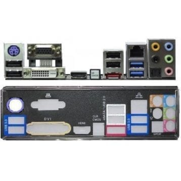 I/O-Shield - Backplate - Blende - ASRock Z77 Extreme4