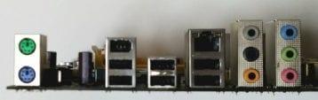 ASRock P5B-DE Backplate