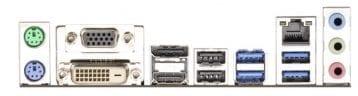 ASRock Q87M Vpro Backplate