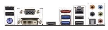 ASRock h81m-ITX Backplate