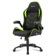 Sharkoon ELBRUS 1 Gaming Chair gamestoel Zwart/Groen