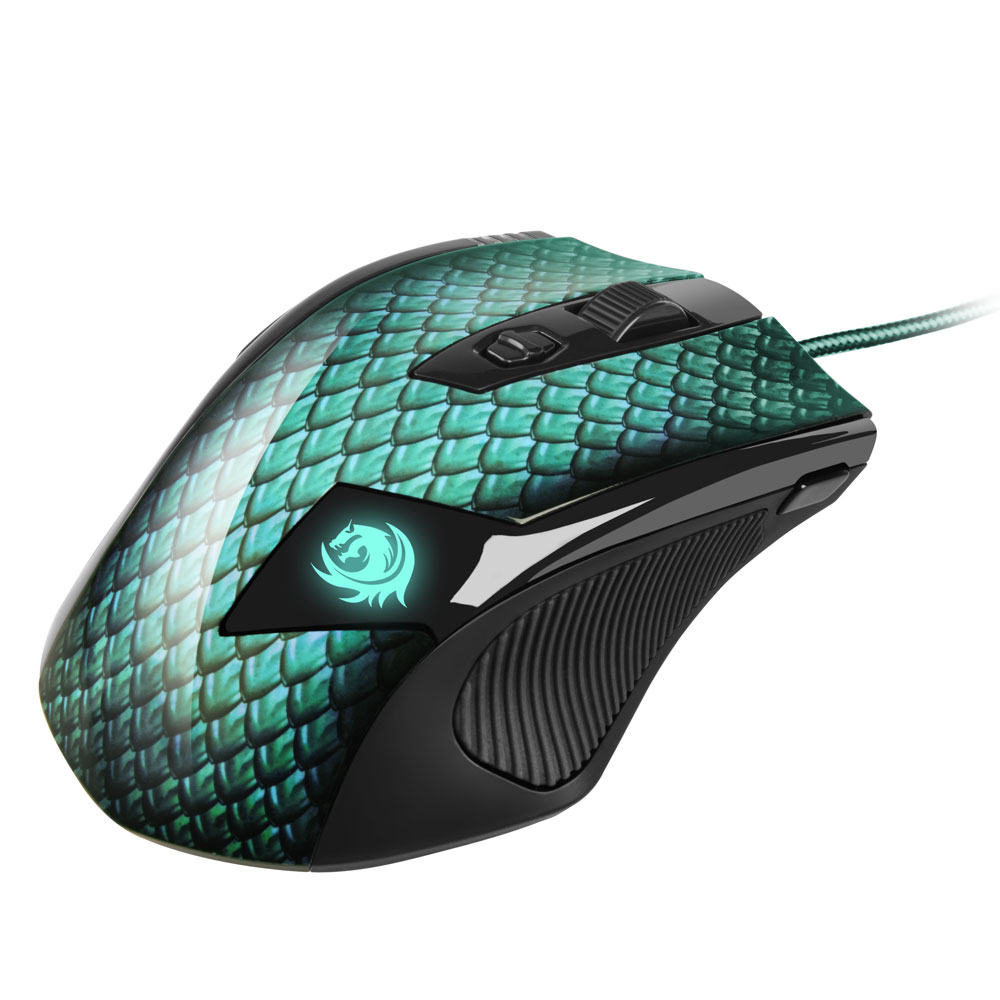 Sharkoon Drakonia groene Gaming muis
