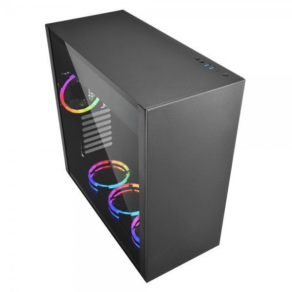 Sharkoon PureSteel Black RGB computer behuizing - Dealstunter.nl