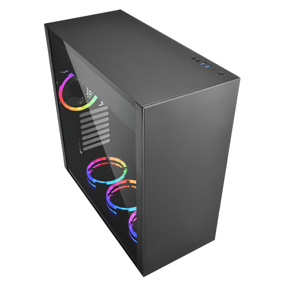 Sharkoon PureSteel Black RGB computer behuizing