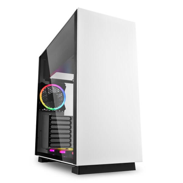 Sharkoon PureSteel White RGB computer behuizing - Dealstunter.nl