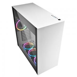 Sharkoon PureSteel White RGB computer Case - Dealstunter.nl