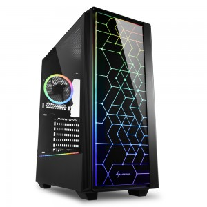 Sharkoon RGB LIT100 computer behuizing - Dealstunter.nl