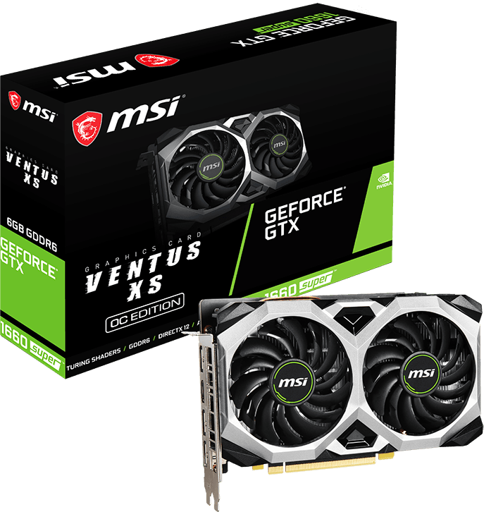 MSI GeForce GTX 1660 SUPER VENTUS XS OC 6G
